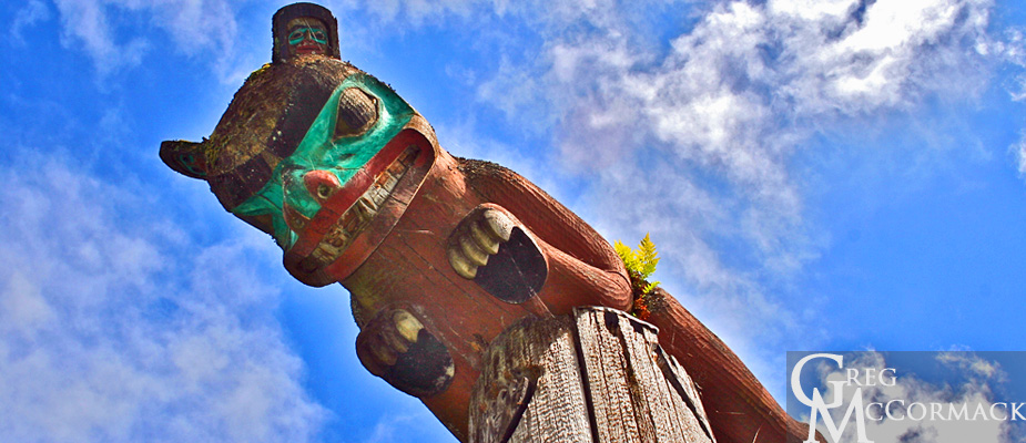 Bear Totem Pole Bear as Totem Pole